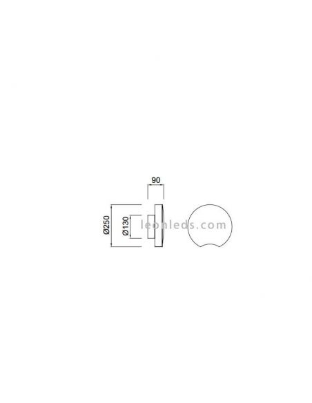 Dimensiones Plafon LED moderno Lunas 14W 5767 | LeonLeds Iluminación