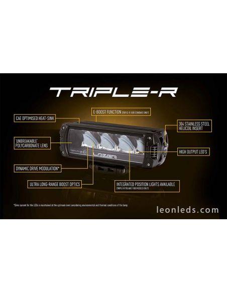 Barra de LED Homologada Triple R 750 con luz de posición 9-32V 45W 27Cm