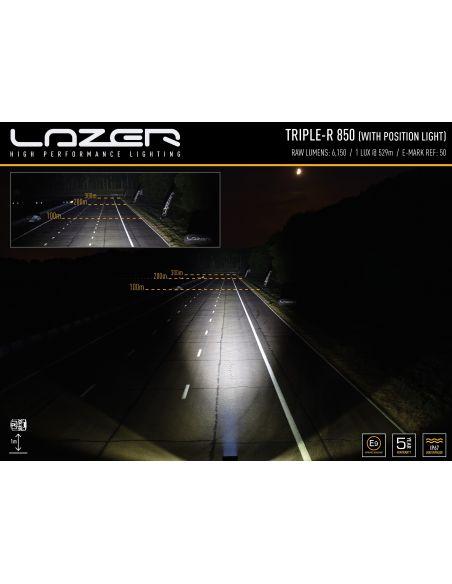 Lazer Triple R-6 850 con luz de posición