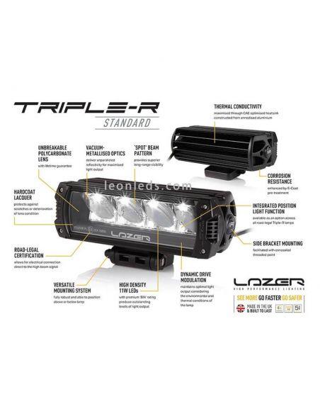 Barra LED Triple R-12 1250 con luz de posición 135W