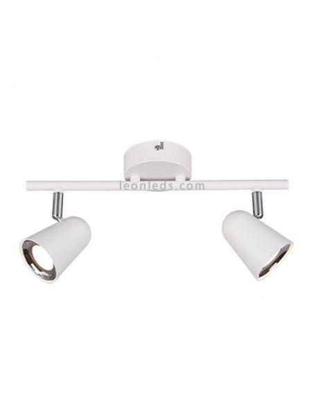 Regleta de 2 focos LED blanca Toulouse de Trio Lighting | LeonLeds Iluminación