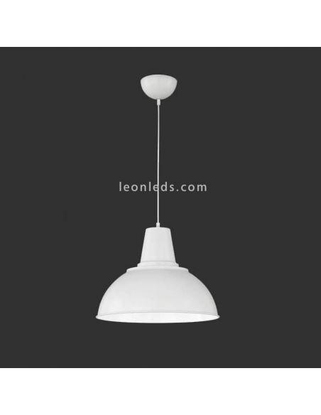 Lámpara de Techo Industrial Blanca Iowa | LeonLeds Iluminación