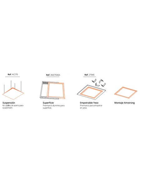 Formas de instalar un panel de 60x60Cm | Panel LED de 60x60 superficie empotrado suspensión | LeonLeds Iluminación