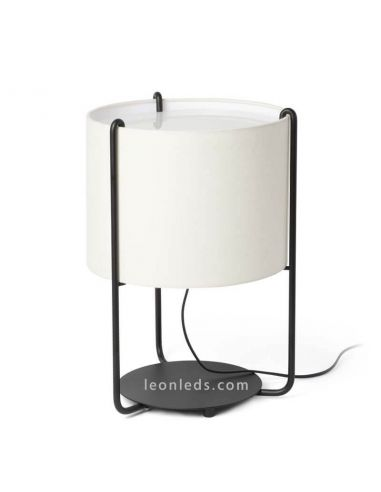 Lámpara de sobremesa Drum Beige