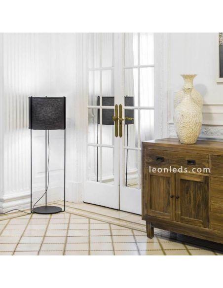 Lámpara de pie Drum Antracita y Negra de Faro Barcelona | LeonLeds