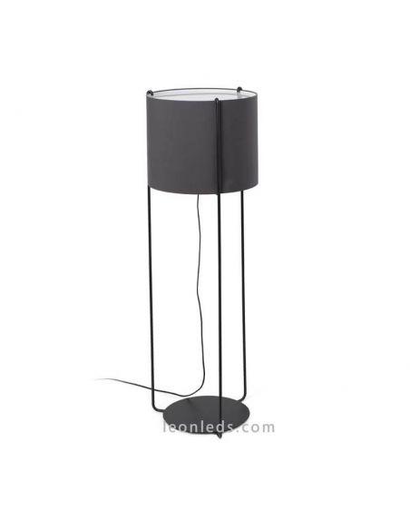 Lámpara de pie Drum Antracita y Negra Faro Barcelona | LeonLeds