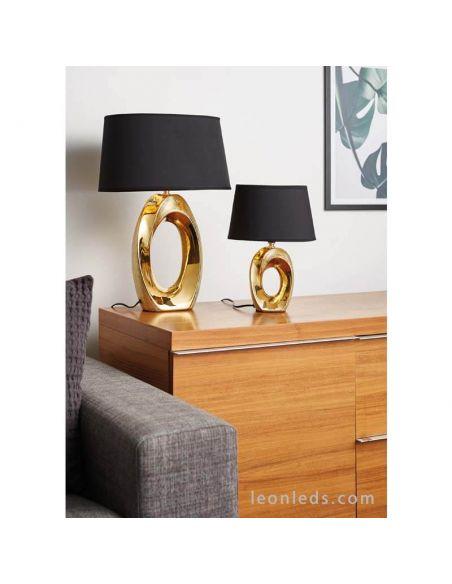 Lámpara de Sobremesa moderna Dorada y Negra Taba R50511079   LeonLeds Iluminación