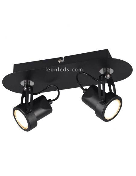 Regleta 2 focos orientables Goa Trio Lighting   LeonLeds Iluminación