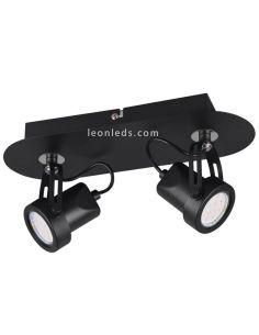 Regleta 2 focos orientables Goa Trio Lighting | LeonLeds Iluminación