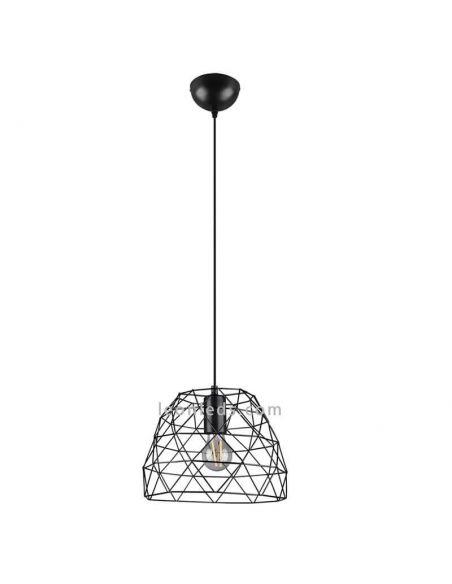 Lámpara de techo alambre negro Haval Trio Lighting   LeonLeds Iluminación