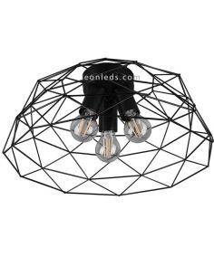 Plafón de techo Alambre negro Haval de Trio Lighting | LeonLeds Iluminación