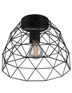 Plafón Vintage Alambre negro Haval | Trio Lighting
