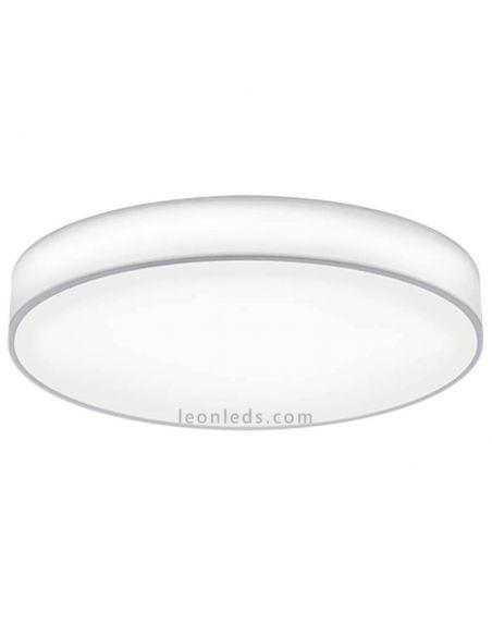 Plafón LED textil blanco con mando a distancia Lugano Trio Lighting | LeonLeds Iluminación