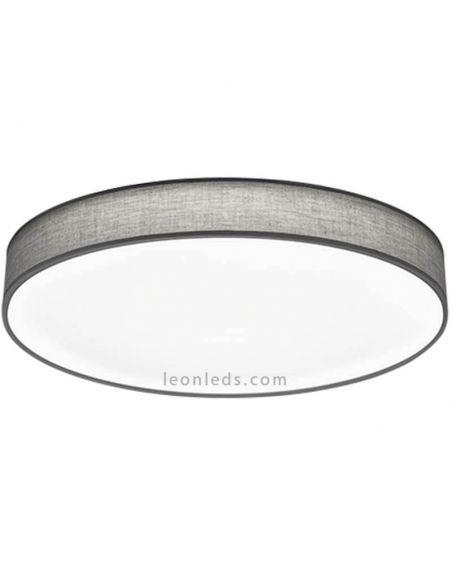 Plafón LED textil gris con mando a distancia Lugano Trio Lighting | LeonLeds Iluminación