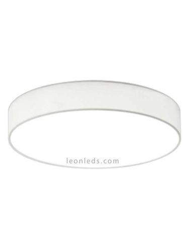 Plafón LED textil Lugano 40W blanco con mando a distancia de Trio Lighting | LeonLeds Iluminación