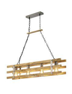Lámpara de techo madera natural Khan de Trio Lighting 305500467 | LeonLeds Iluminación