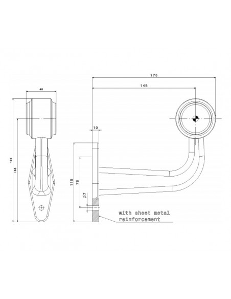 Cuerno LED Fristom FT009 F Tipo L 2 Funciones Largo Galibo | LeonLeds