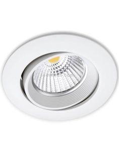 Downlight redondo orientable LED DOT Tilt Blanco D68 de ArkosLight | LeonLeds Iluminación