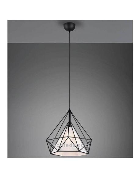 Lámpara colgante varillas negra Babette de Trio Lighting | LeonLeds Iluminación