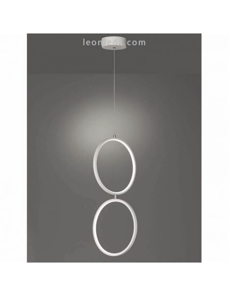 Lámpara de techo LED Minimalista Rondo blanca | LeonLeds Iluminación