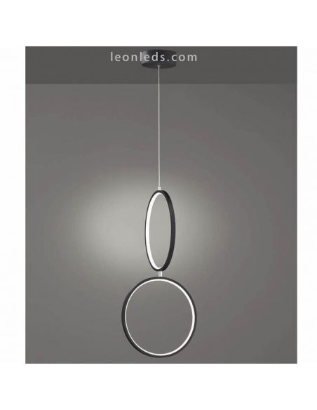 Lámpara de techo LED Minimalista Rondo negra | LeonLeds Iluminación
