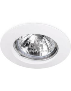Aro empotrable redondo fijo Basic Fix Blanco | LeonLeds Iluminación