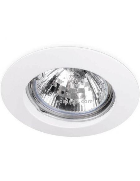 Aro empotrable redondo fijo Basic Fix Blanco   LeonLeds Iluminación