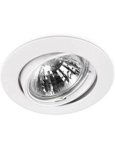 Aro orientable redondo Basic Tilt blanco | LeonLeds Iluminación