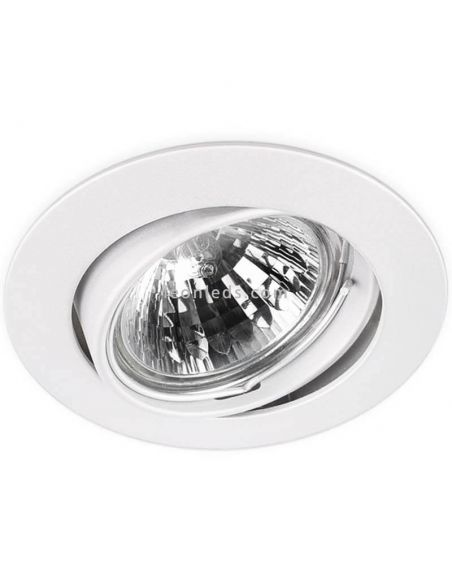 Aro orientable redondo Basic Tilt blanco   LeonLeds Iluminación