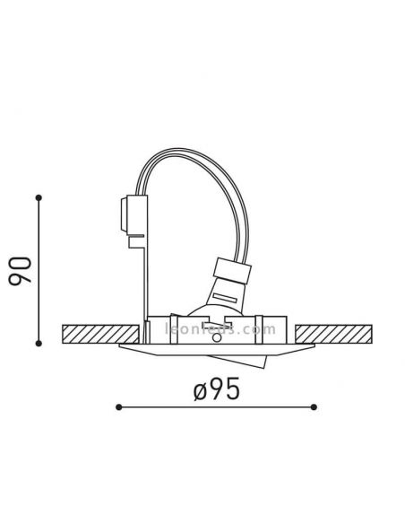 Dimensiones Aro Basculante Basic Tilt Extra de ArkosLight | LeonLeds Iluminación