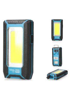 Linterna LED recargable con iman y gancho | LeonLeds Iluminación