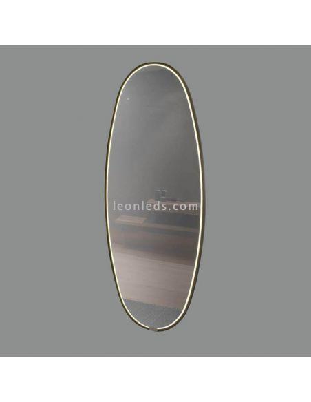 Espejo LED negro grande 58W Onix ACB Iluminación | LeonLeds Iluminación