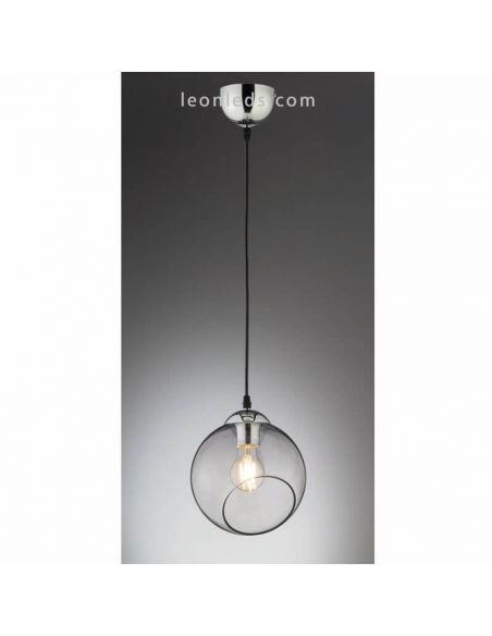 Lámpara de techo bola de cristal blanca Clooney de Trio Lighting | LeonLeds Iluminación