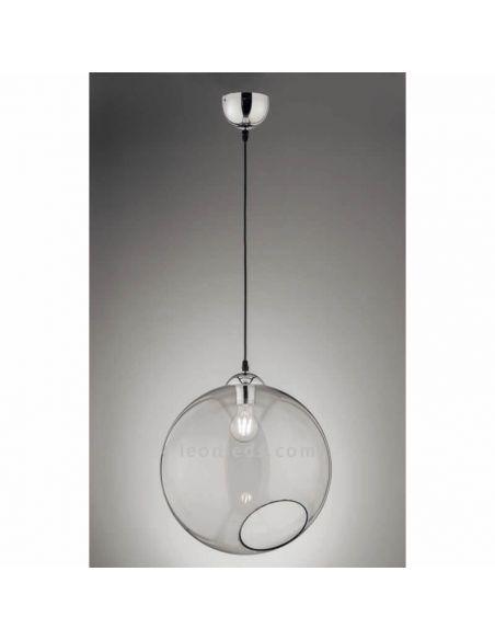 Lámpara de techo bola de cristal Clooney de Trio Lighting Smooke | LeonLeds Iluminación