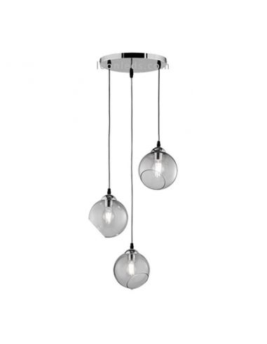 Lámpara de techo cristal moderna Clooney de Trio Lighting | LeonLeds Iluminación