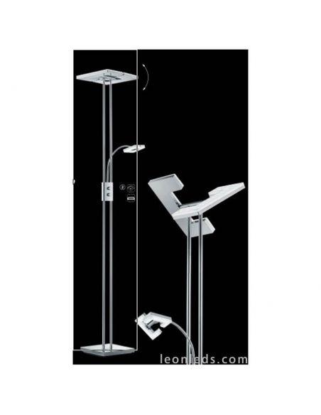 Lámpara de pie LED cuadrada Avignon R42782106 | LeonLeds Iluminación