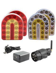 Kit Pilotos Traseros y Delanteros LED Inálambricos Magneticos Connix  | LeonLeds Iluminación