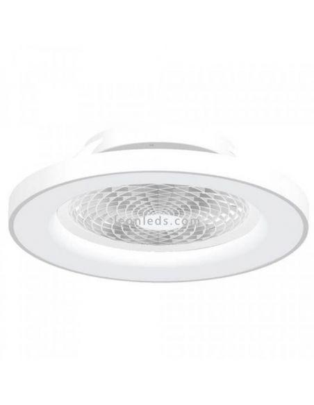 Plafón LED Ventilador Blanco Tibet 7123 Mantra Iluminación | LeonLeds Iluminación
