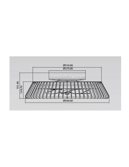 Dimensiones Ventilador de techo LED madera Himalaya 7128 Mantra Iluminación | LeonLeds Iluminación