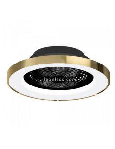 Ventilador de techo LED Tibet Negro y Oro 7124 | LeonLeds Iluminación