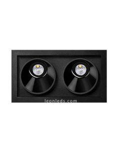 Black Foster Asymmetric Recessed 2 ArkosLight | LeonLeds Iluminación