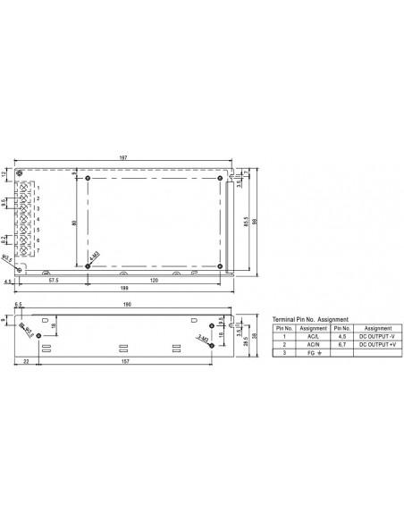 Transformador Tira LED RS 150-12 Mean Well Fuente de Alimentación | LeonLeds