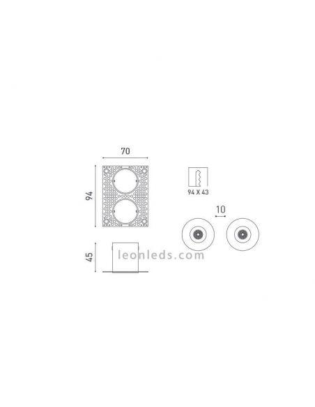 Accesorio Trimless Shot Light - 2 Lámparas