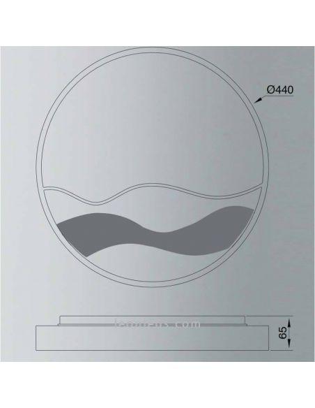 Dimensiones Aplique / Plafón LED con mando a distancia Mar 24W 6454 Mantra | LeonLeds Iluminación