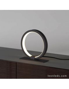 Lámpara de mesa LED redonda negra KiteSurf  7195 7145 Mantra | LeonLeds Iluminación