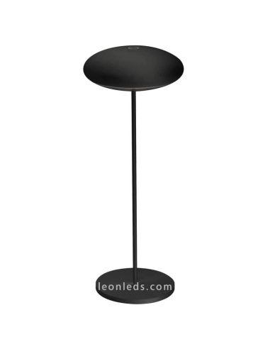 Sobremesa LED exterior portatil negra Klappen 7096 | LeonLeds Iluminación