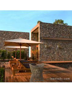 Aplique de exterior moderno Polinesia Beige Oscuro 7133 | LeonLeds Iluminación