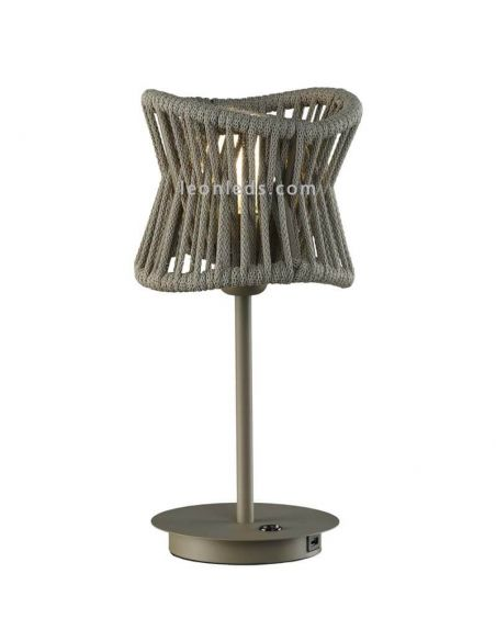 Lámpara de mesa de exterior USB polinesia 7134 Mantra Santiago Sevillano | LeonLeds Iluminación