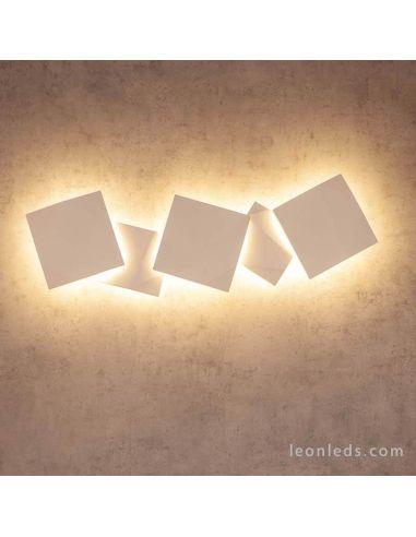 Aplique LED Yeso Blanco Cook Mantra 7111 7110 | LeonLeds Iluminación
