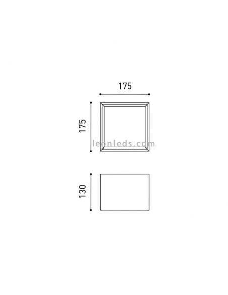 Plafón LED Cuadrado 15,5W Block 2